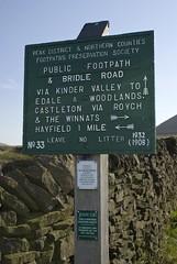 Peak & Northern Footpath Society Signs