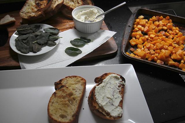 butternut squash ricotta & sage crostini | Flickr - Photo Sharing!