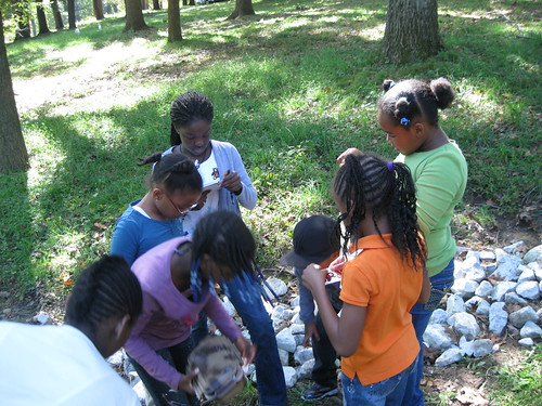 Students at Explore Your Parks event in FDR State Park, NY.