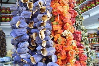 Dried veggies on the Turkish side of Nicosia