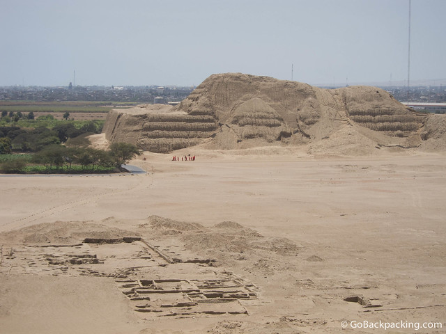 View of Huaca de Sol from Huaca de la Luna