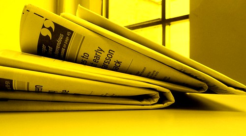 Newspaper sunny yellow