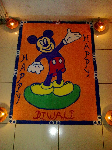 Mickey Mouse Rangoli