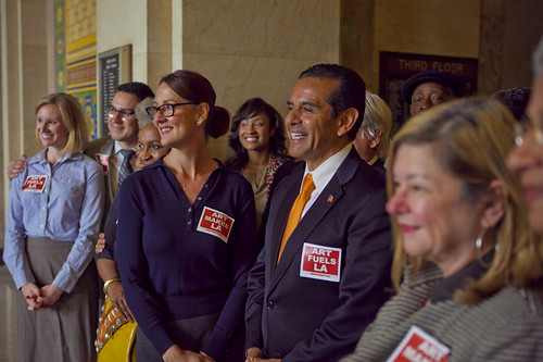 Mayor Antonio Villaraigosa with Arts Advocates