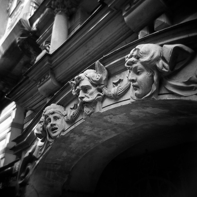 The Chiselled Faces in Albert Street