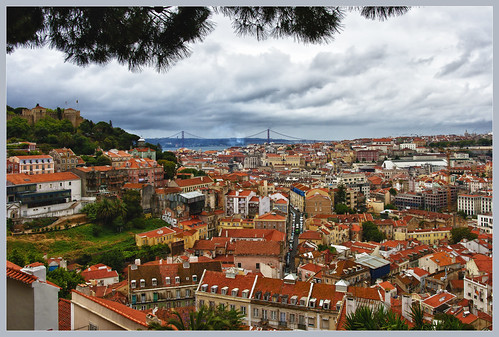 Pics from the attic - Lisbon cityscape (Explore)