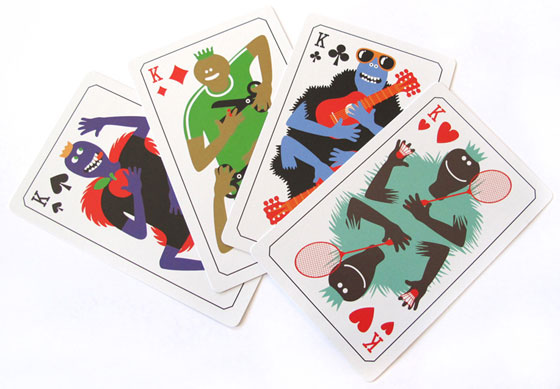 Geneviève Gauckler, Kings cards for Pictarot, published by Pictoplasma