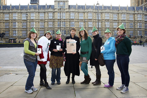 Caroline Lucas with grassroot campaigners November 2011