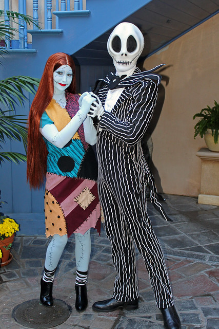 Meeting Jack Skellington and Sally Stitches