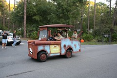 Tow Mater Golf Cart in the Parade
