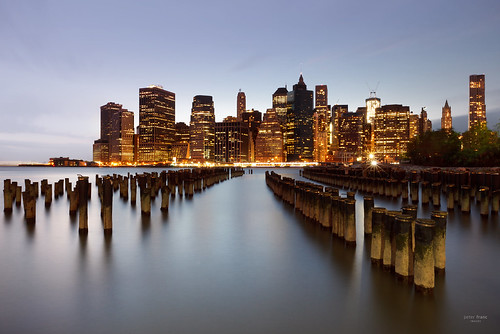 USA - Manhattan Skyline Pier 1, colour
