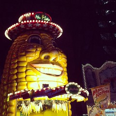 event, night, amusement park,