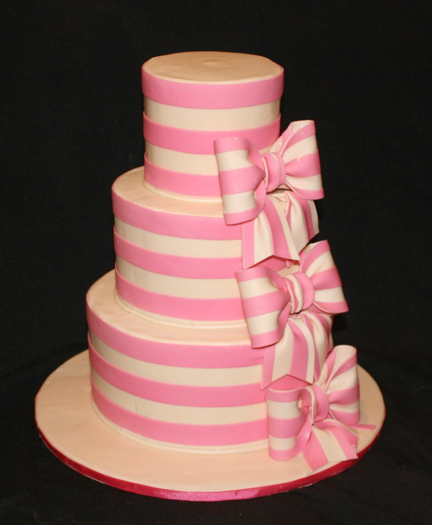 Fondant Striped Cake
