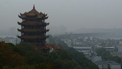 The tower and the bridge over the Yangtze