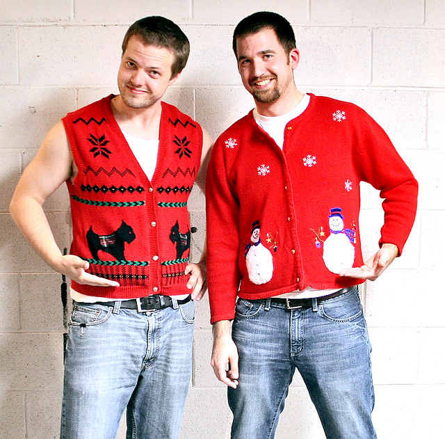 these dudes look naffer than the christmas jumpers!