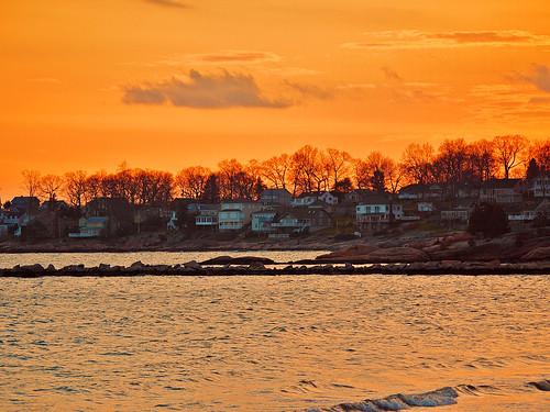 ocean sunset sea connecticut niantic rockyneck lumixcamera panasonicdmcg1 cloudsstormssunsetssunrises pjddigipic