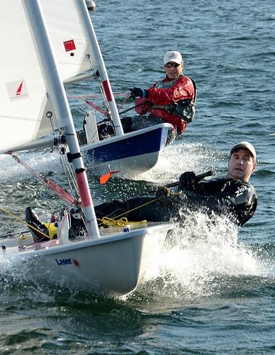Newport Laser Fleet 413 Frostbite Racing - Newport, Rhode Island by misterfoto