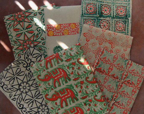 Block print wrapping paper by dalbhat