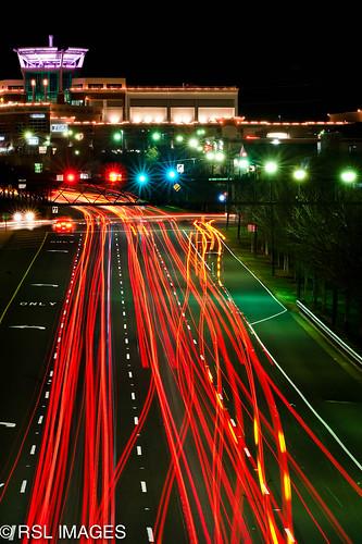 bridge trafficlights night charlotte northcarolina taillights ballantyne nikonflickraward