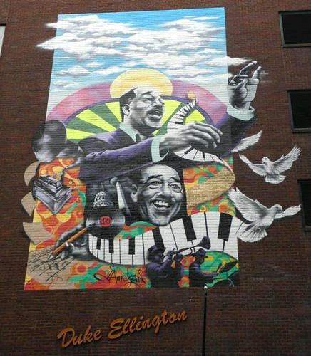 New duke ellington mural connects d c to musical past for Duke ellington mural