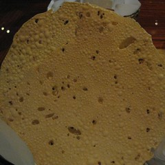 black pepper papadum