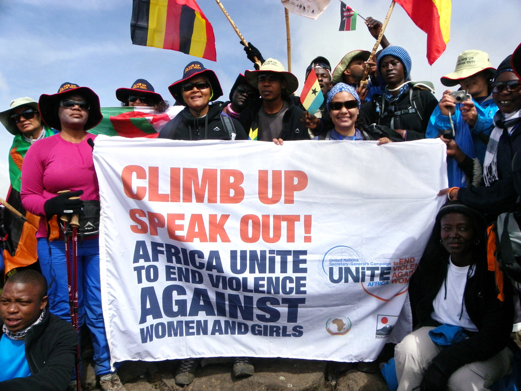 The Kilimanjaro Climb for Africa UNiTE to End Violence Against Women