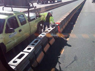 I-93 HOV Lane Zipper Truck, March 30, 2012