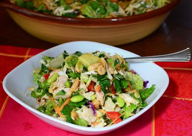 Thai Chicken Salad in a bowl.