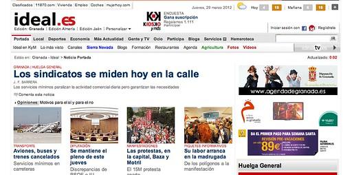 Crónica Huelga 29M 2012