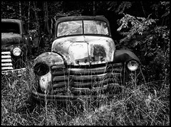 Two Chevy's Black and White