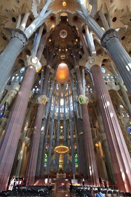 Interior of sagrada familia flickr photo sharing - Sagrada familia interieur ...