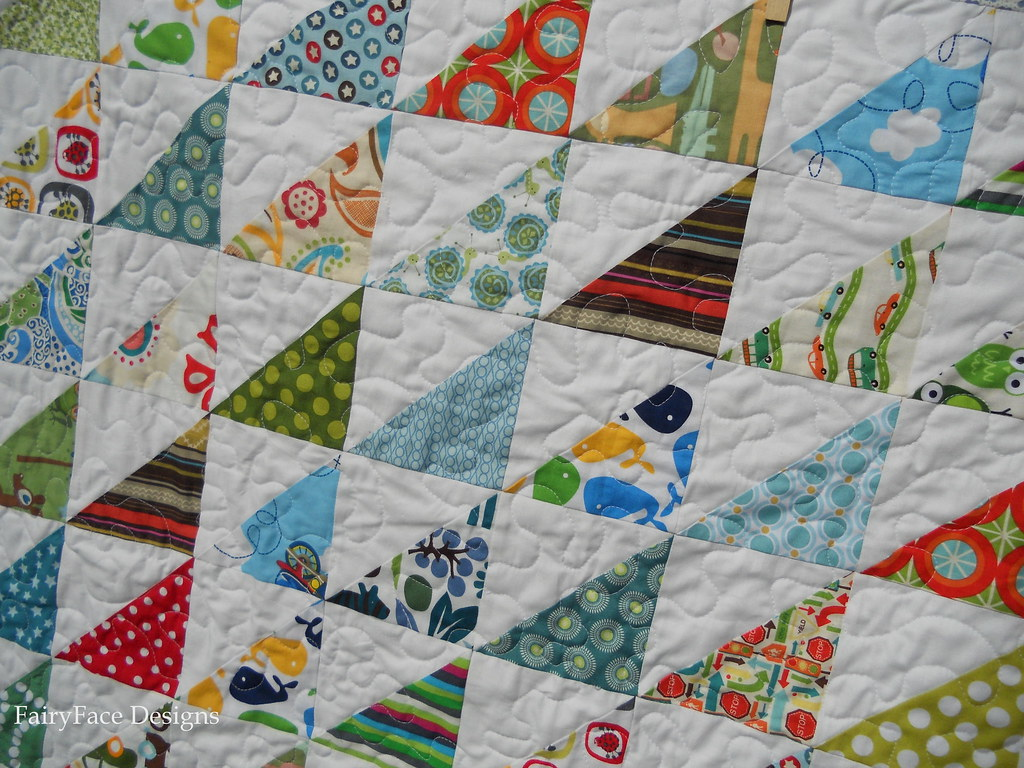 Fairyface designs double trouble baby boy quilt finishes for Quilt material for boys
