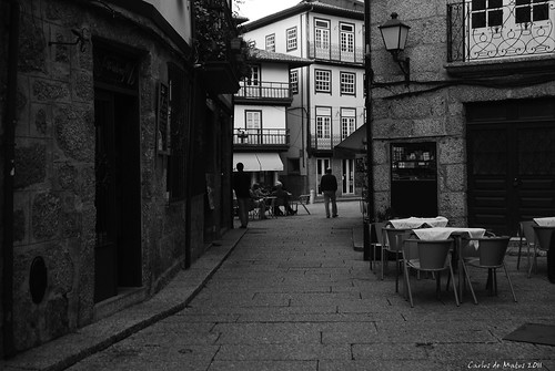 Guimarães - another old street by Carlos de Matos