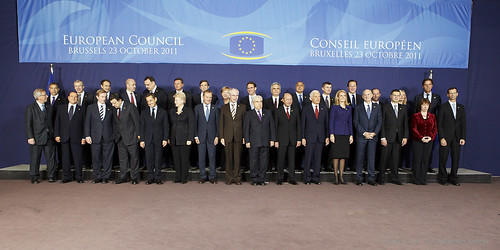 European Council family photo, Brussels, 23 October 2011
