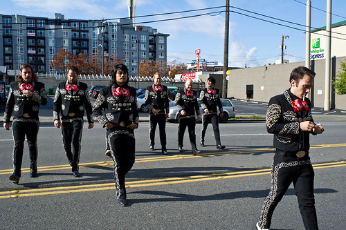 Mariachi el Bronx outside the KEXP studios on 2011-10-24