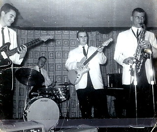 1959 THE STRATATONES (HiFi Club)(1417 Market St) DAVE BARTENS LEFT WITH GUITAR (C)