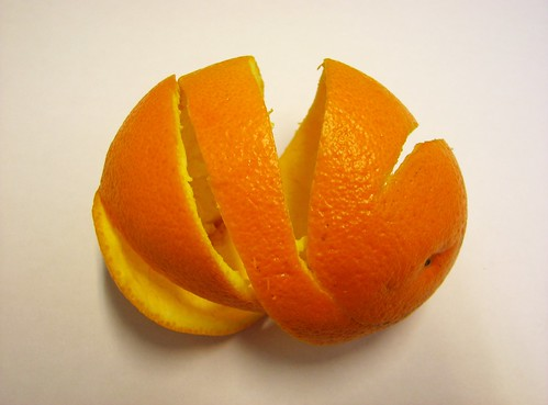 Triple Spiral One-Piece Orange Peeling