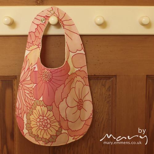 Vintage floral pink bib