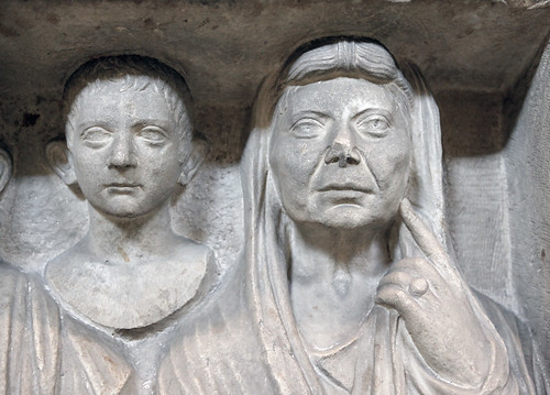 Funerary Relief of the Vibii (detail, right side) (Vatican 2109)