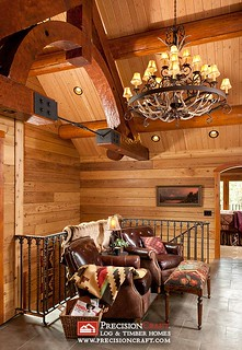 Log Home Loft | by PrecisionCraft Log Homes