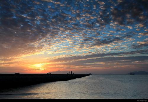 风景 旅行 日落 cpl 海边 周末 惠州平海