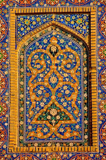 Islamic Tile Work : Uzbekistan bukhara kalon mosque islamic tile work