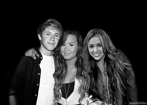 niall, demi and miley