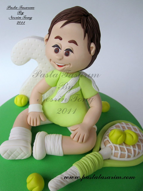 BORA 2ND BIRTHDAY CAKE - TENNIS