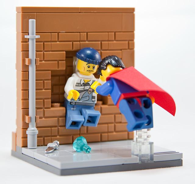 Superman Fightin' Crime