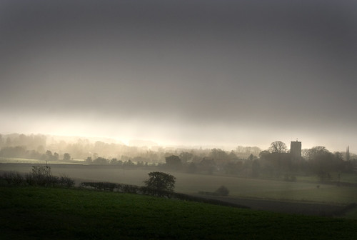 Autumn Mist  over Spofforth by Theresa Elvin
