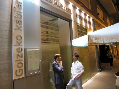 Entrada al restaurante Goizeko Kabi'ar - Madrid