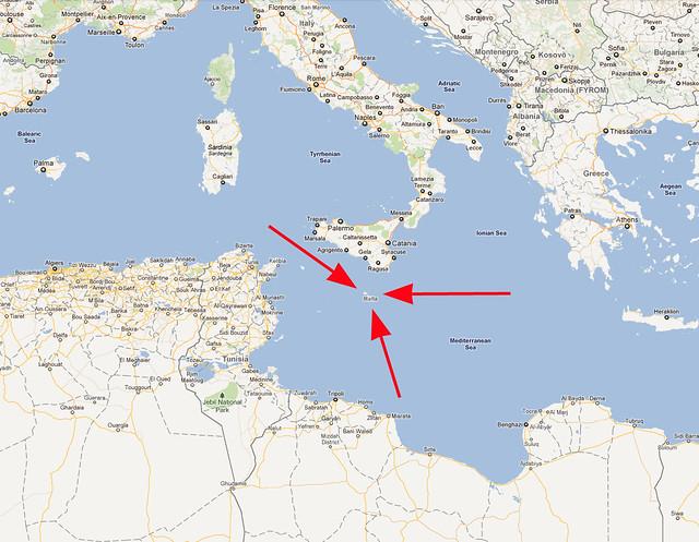 Malta map Flickr Photo Sharing