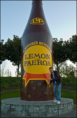 L&P Paeroa giant bottle