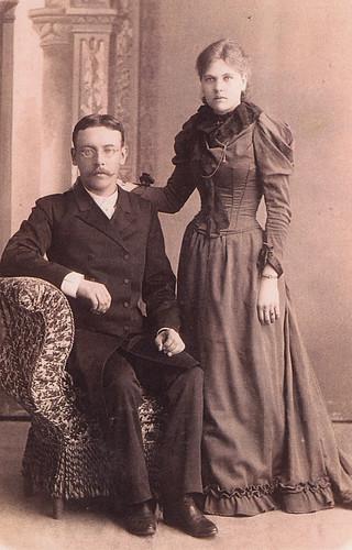 8-4 М.иА. Юргановы - родители Елены 1893г.